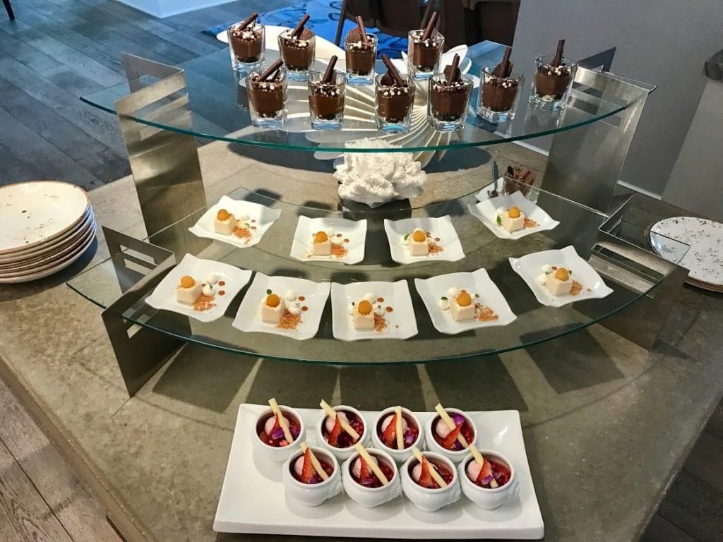 Desserts at the Ritz-Carlton Half Moon Bay