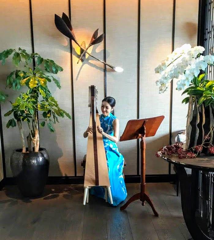 Ritz-Carlton harpist in Tokyo, Japan