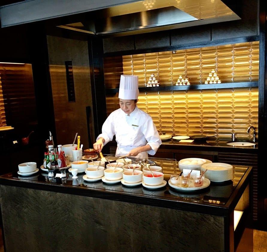 Omelet Station at the Ritz-Carlton Tokyo, Japan