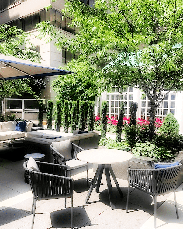 The Courtyard for dining and drinks