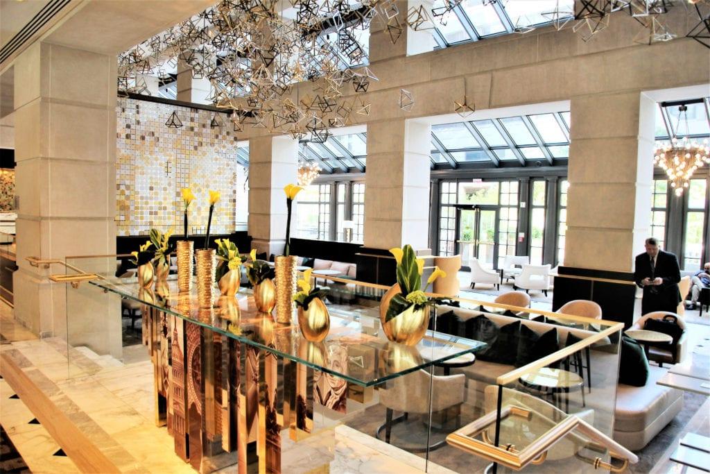 The Fairmont luxurious lobby