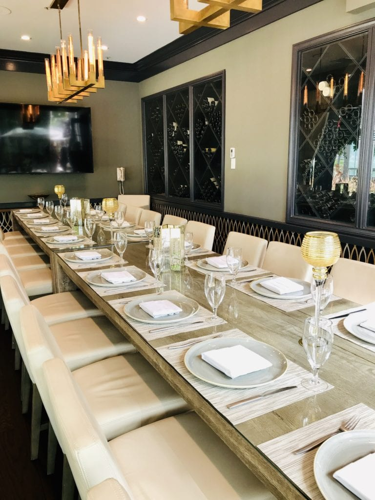 Private dining area for events and special occasions