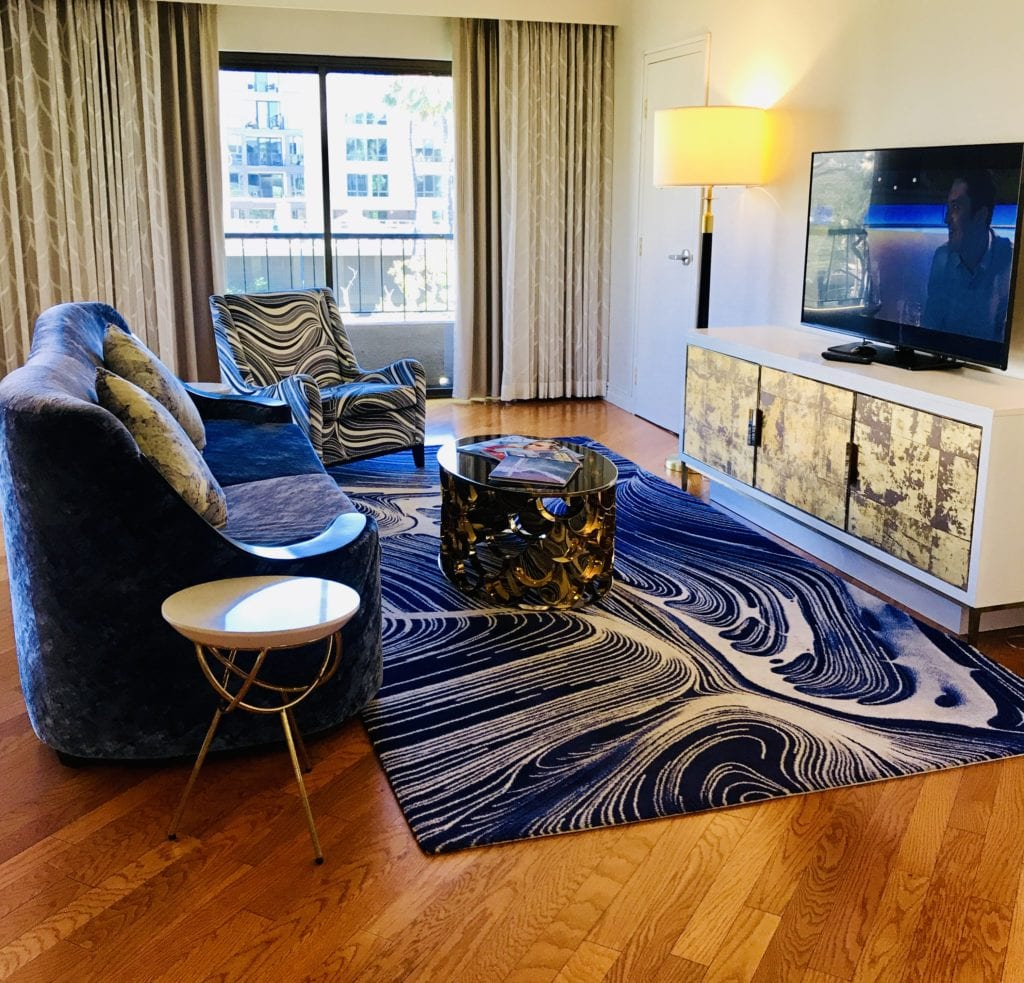 The Living Room Area of The Suite