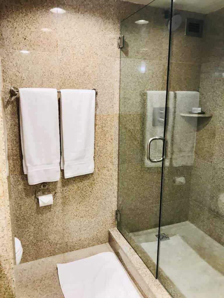 A large shower