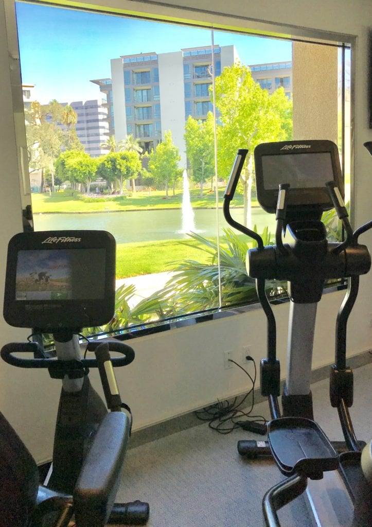 Stay fit with this as your view