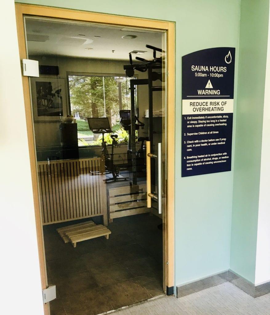 Sauna located inside Gym