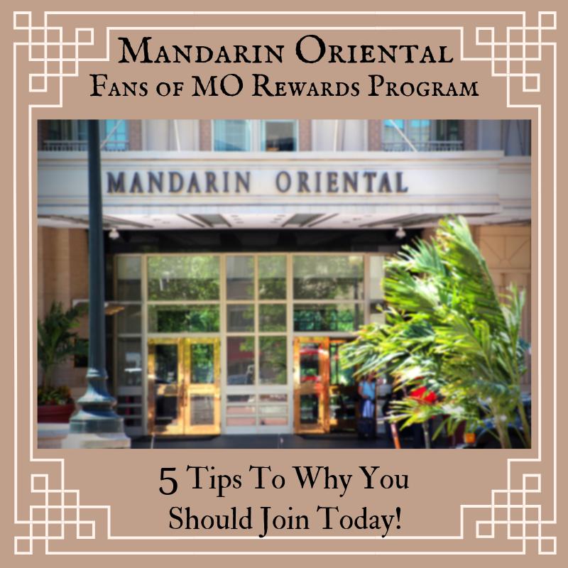 Mandarin Oriental Fans Of MO Program