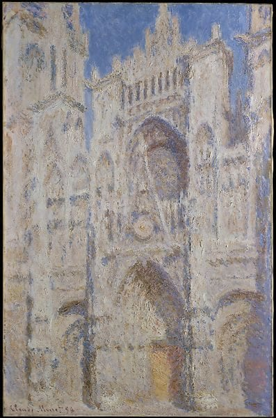 From the Metropolitan Museum of Art, Monet's Rouen Cathedral, The Portal